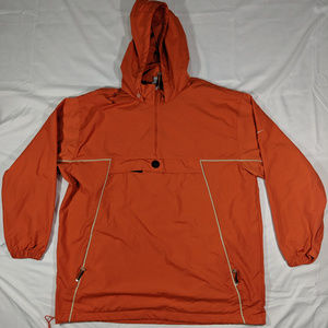 Nike orange pull over jacket